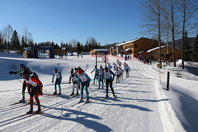 Course de ski de fond au Mont Grand-Fonds